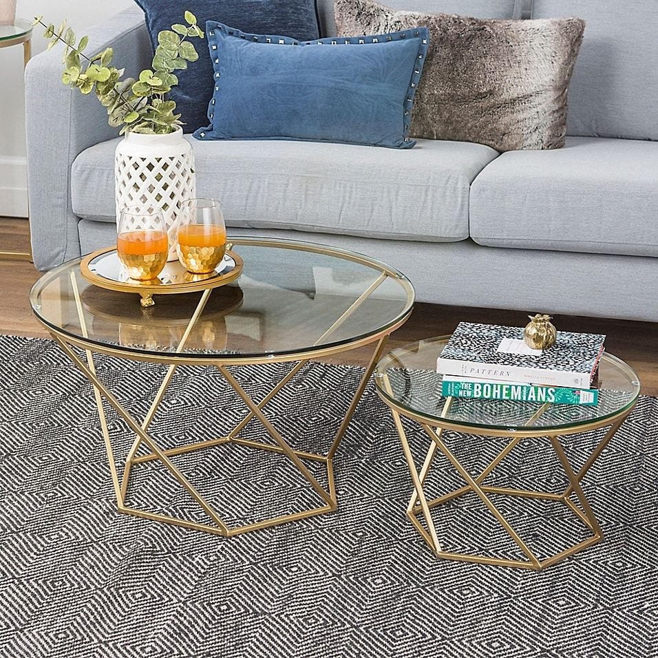Forest Gate Olivia Modern Geometric Glass Nesting Coffee Tables Bed Bath Beyond In 2021 Glass Coffee Tables Living Room Gold Coffee Table Wicker Coffee Table [ 956 x 956 Pixel ]