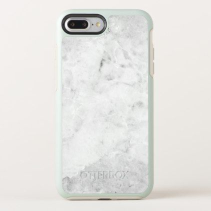 new product a223e 9a175 White & Grey Faux Marble Stone OtterBox iPhone Case | Zazzle.com ...