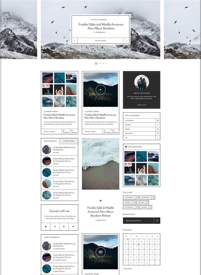 Stylish and Clean WordPress Blog Theme