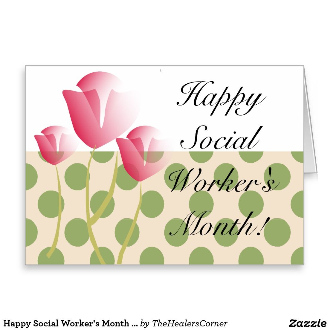 Happy Social Worker S Month Tulips Ii Thank You Card Zazzle Com