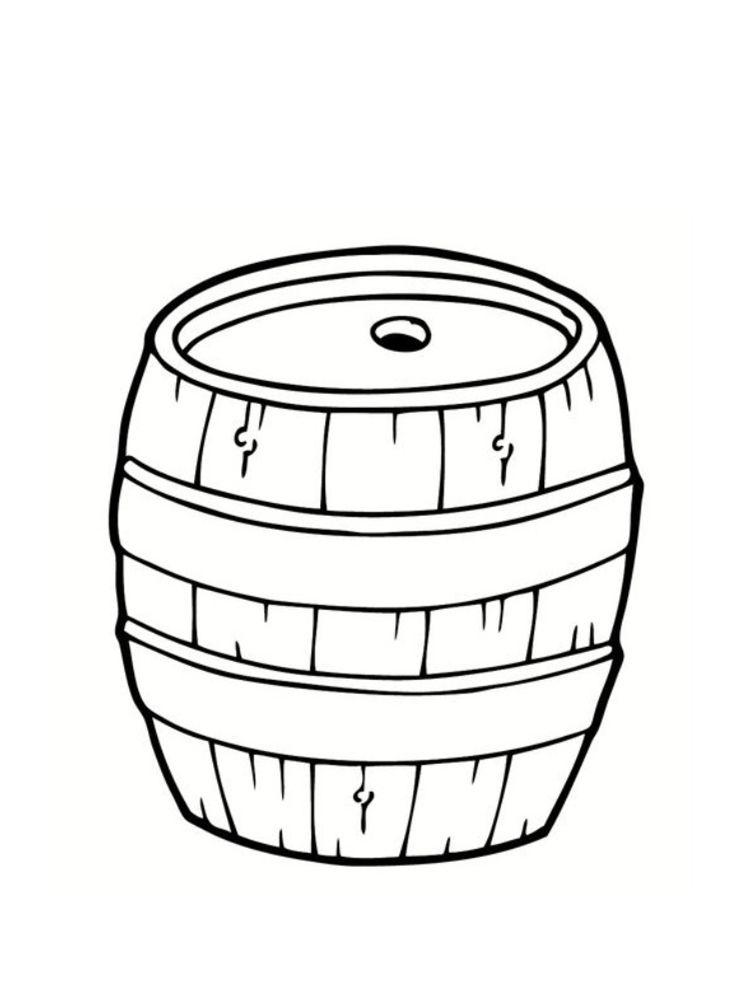 Мед раскраска для детей