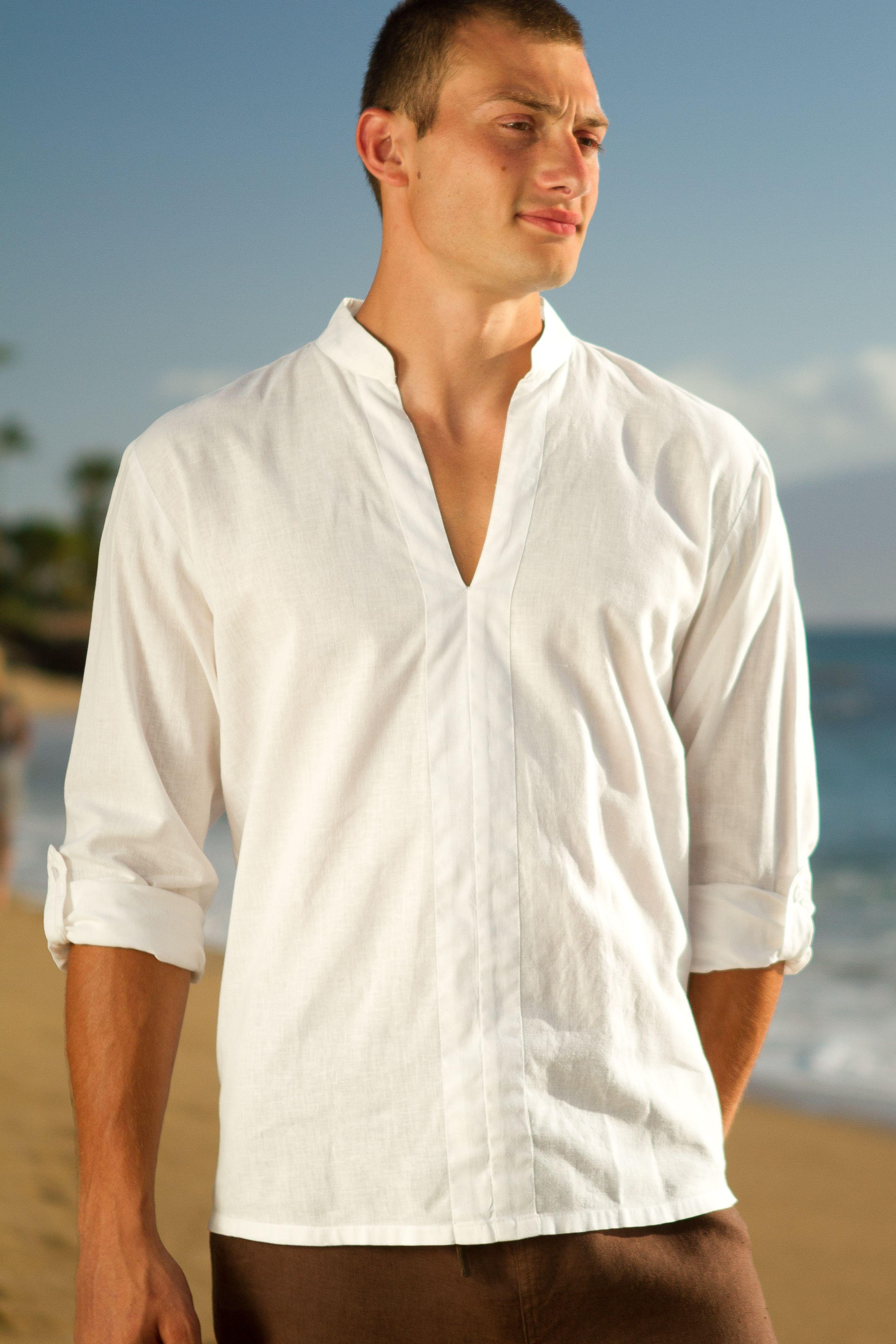 Linen oasis shirt linen shirt men oasis shirt white