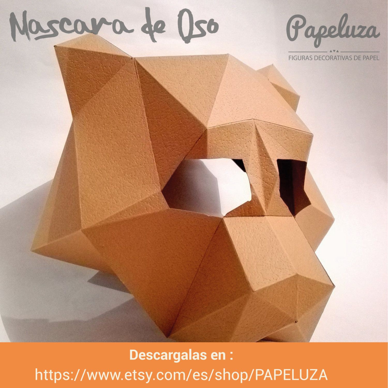 Mascara de Osos - plantilla- Bear mask - template de PAPELUZA en ...