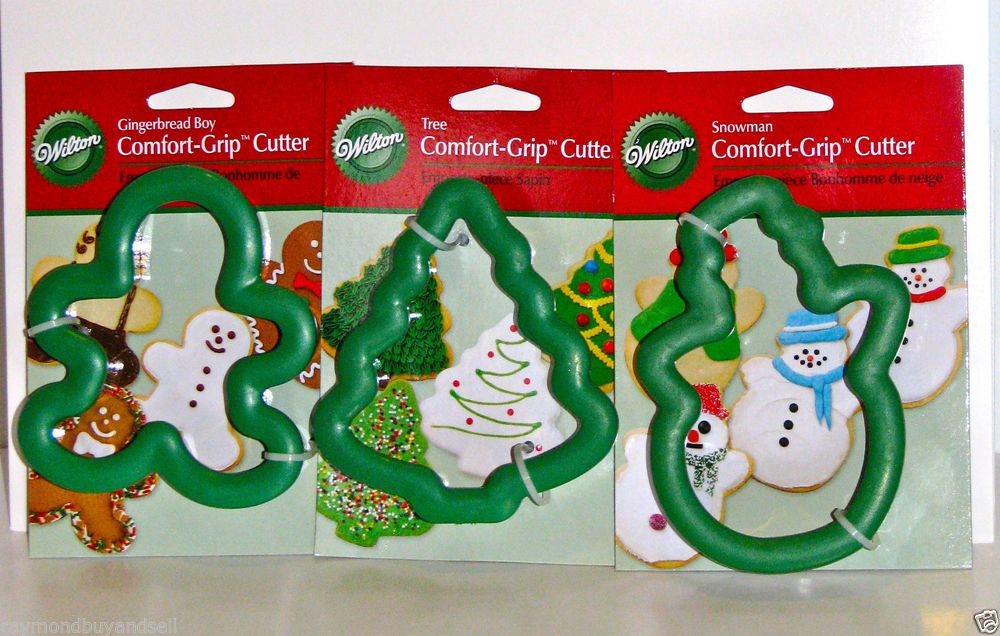 New Wilton Christmas Cookie Cutters Comfort Grip Gingerbread Boy