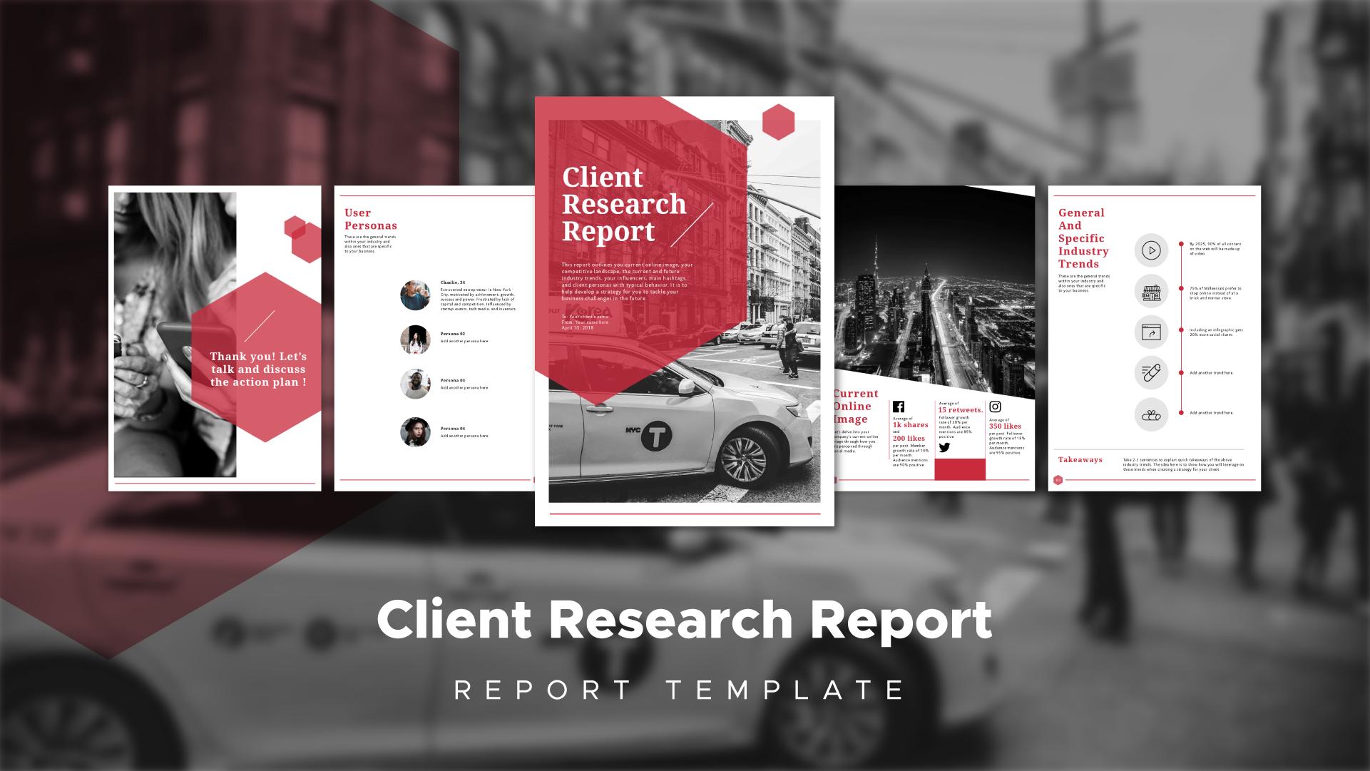 report design  research report  report template