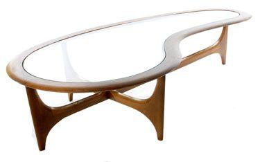 Vintage Lane Kidney Shaped Coffee Table Mid Century Styles - Mid century modern kidney shaped coffee table