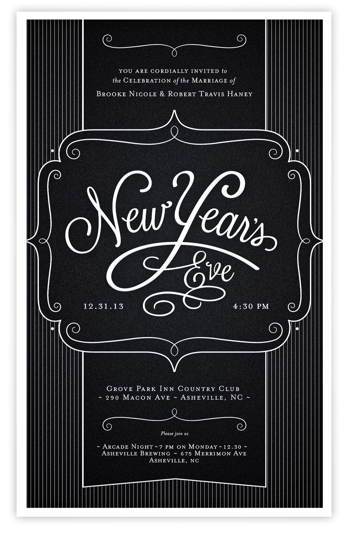a type for new year s eve wedding invitations type pinterest