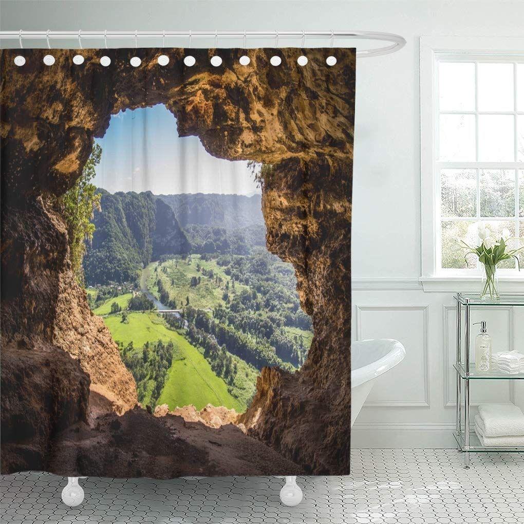 Camuy Cueva Ventana Window Cave In Puerto Rico Usa Shower Curtain