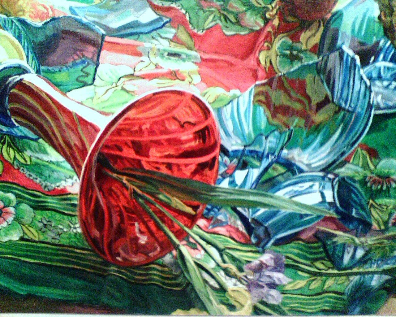 Watercolor art history - Art History Janet Fish The Daily Telecraft Fish Bone Garden