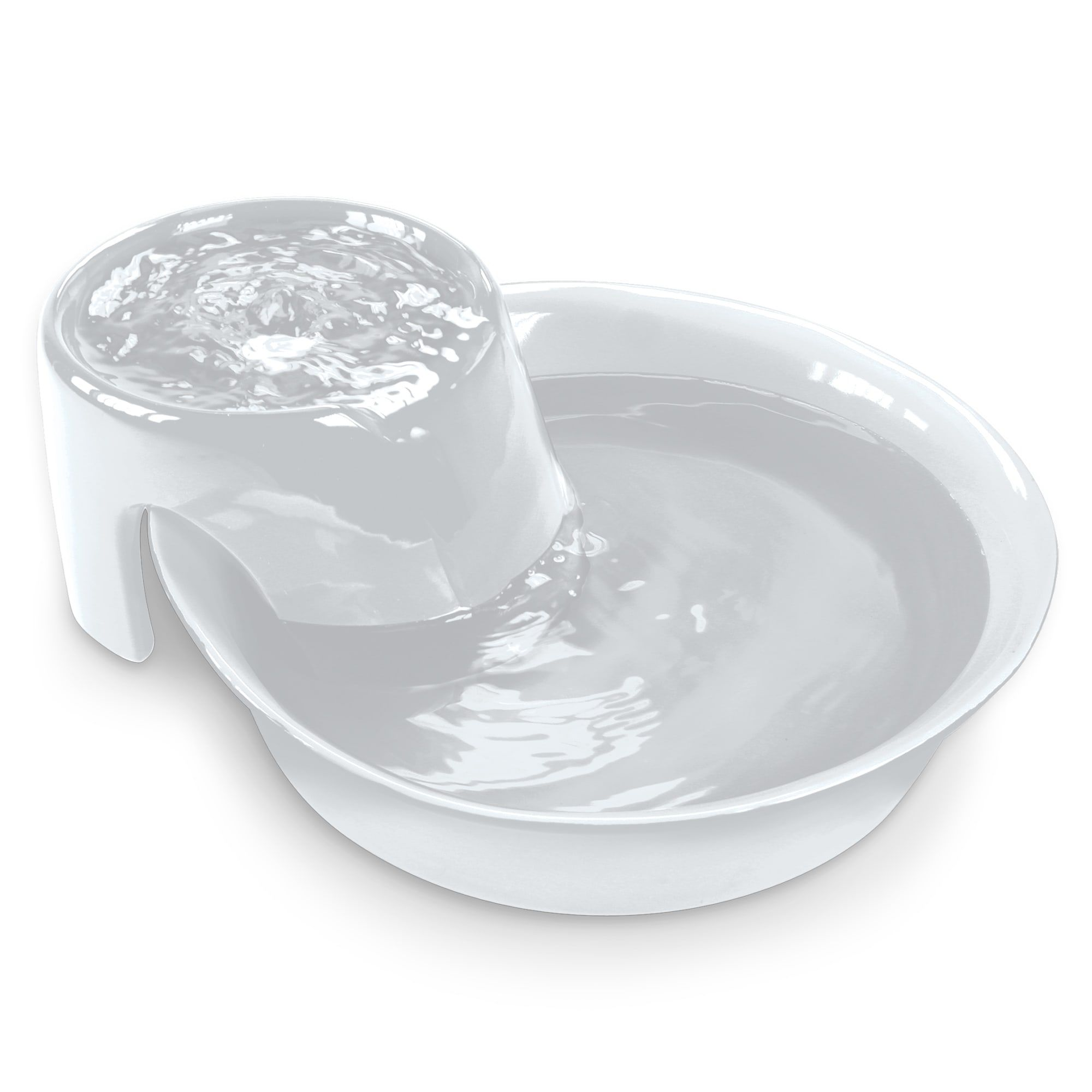 Pioneer Pet Big Max White Ceramic Fountain for Dog, Large