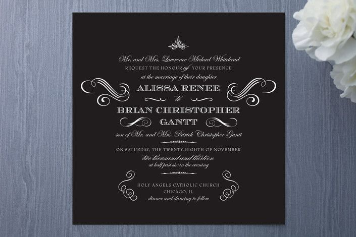 so formal with a vintage feel  scrolls and fancy type make