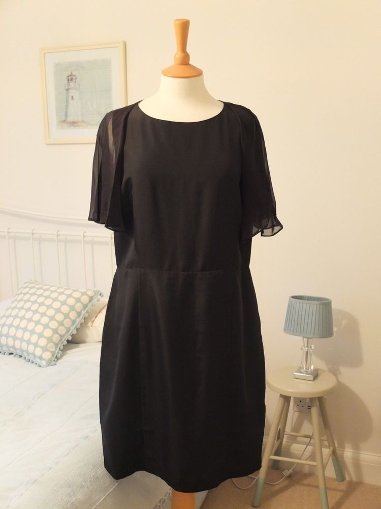 6b6bfb272 TED BAKER SILK BLEND LITTLE BLACK DRESS SIZE 14 16  EVENING WEDDING PARTY XMAS  fashion  clothing  shoes  accessories   womensclothing  dresses (ebay link)