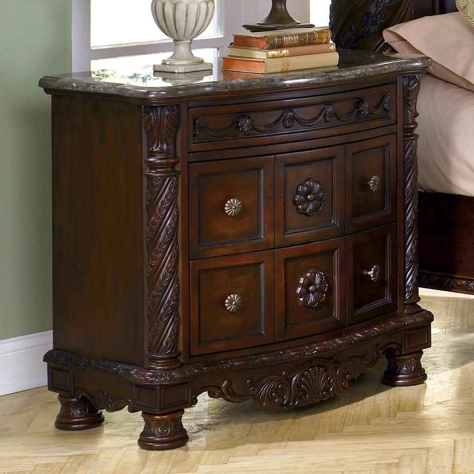 North Shore Nightstand With Half Turned Posts And Feet By