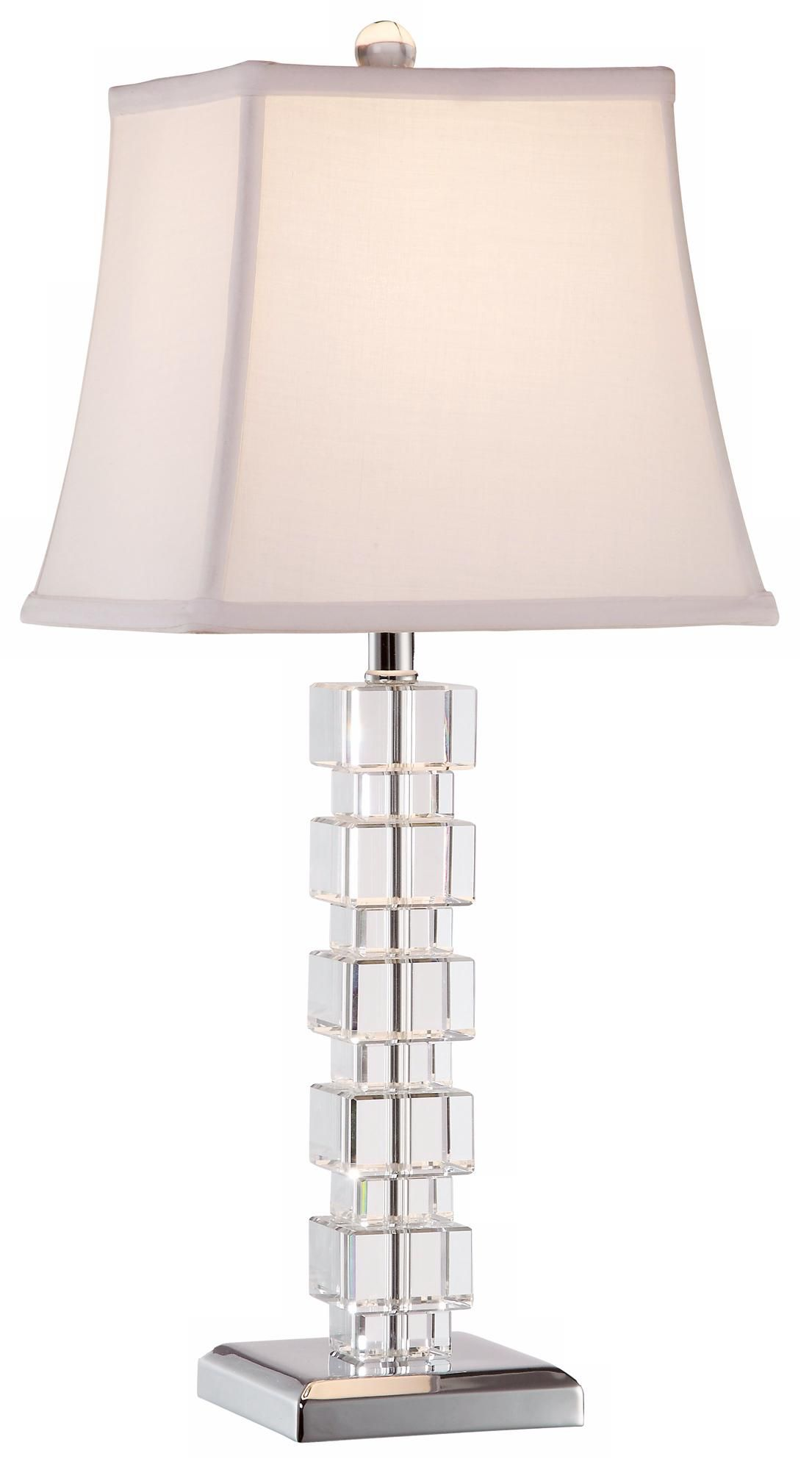 Vienna Full Spectrum Stacked Crystal Cubes Table Lamp Ken And