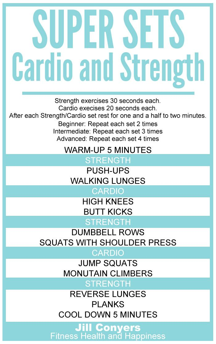 Super Sets: Strength and Cardio | Jill Conyers