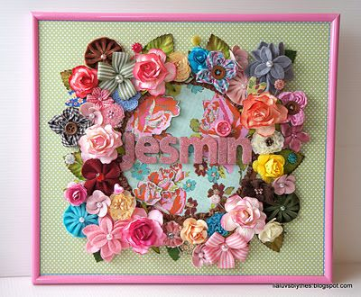 Another Blossoms Name Frame with lots of Maya Road flowers!