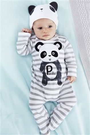 Buy Two Pack Panda Sleepsuits And Hat Set (0-2yrs) from the Next UK online  shop dd304f8682a