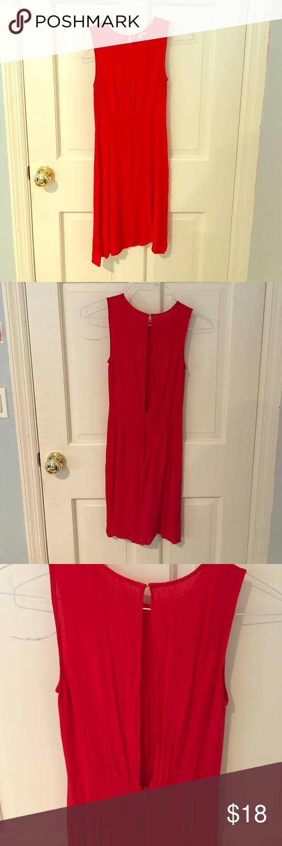 Urban Outfitters Sundress 100% rayon. Cute peep hold back, as pictured. Barely worn, very good condition. Urban Outfitters Dresses Midi