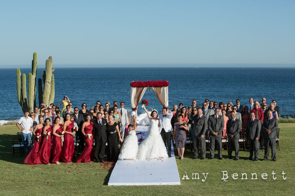 Group Picture, Wedding at Cabo del Sol Golf Course. Picture by Amy Bennet, Wedding by www.momentosloscabos.com Cabo del Sol Wedding