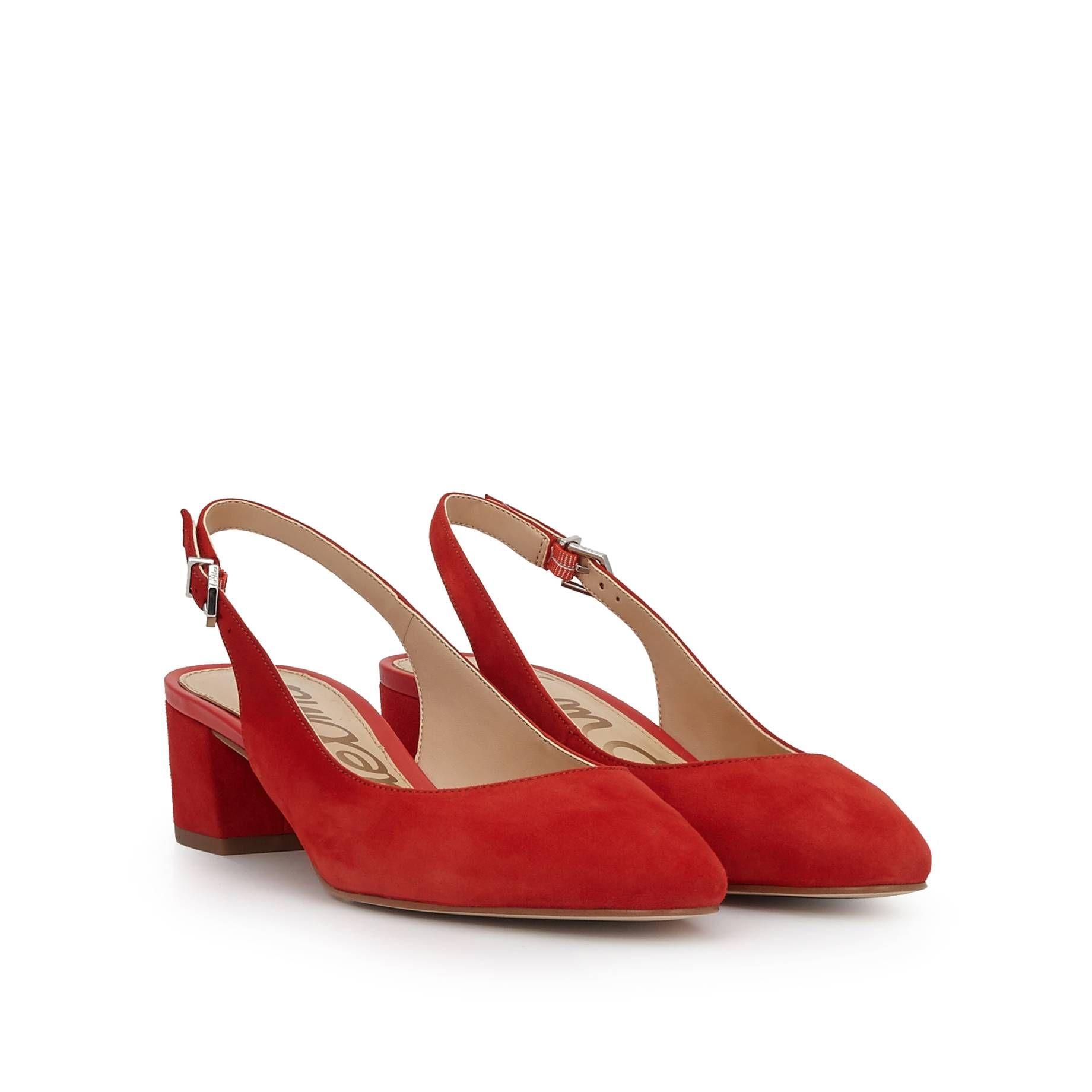 274c1b5bc76 Lorene Slingback Block Heel by Sam Edelman - Blood Orange Suede - View 1