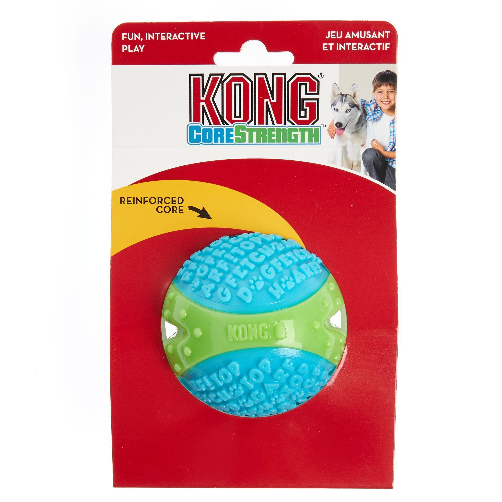 Kong Corestrength Ball Dog Toy Size Medium Blue Green