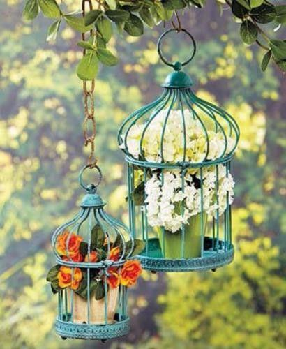 Bird Cage Planter Garden Decor Indoor Outdoor Patio Candles Hanging  Tabletop NEW | Recipes | Pinterest | Outdoor Decor, Apartment Ideas And  Porch