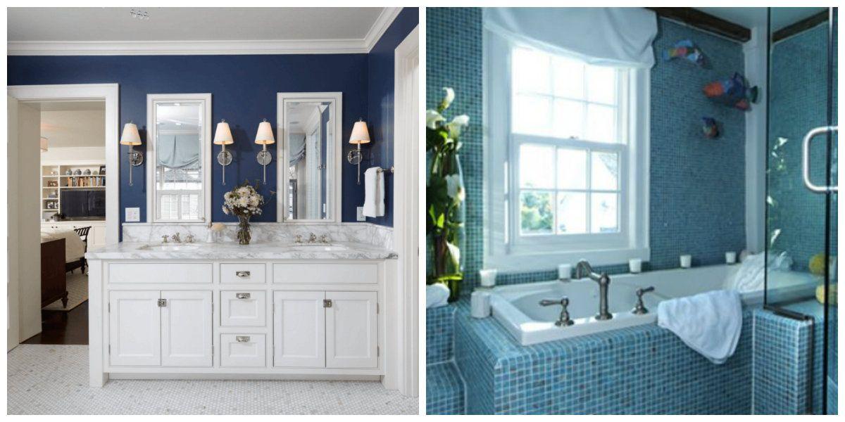 Baños azules- diferentes combinaciones con azul   Baño ...