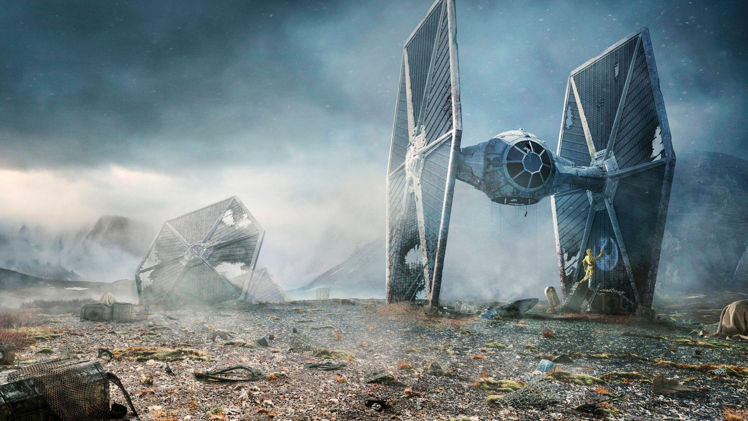 Star Wars 2560 X 1440 Star Wars Wallpaper Tie Fighter Wallpaper Star Wars Background