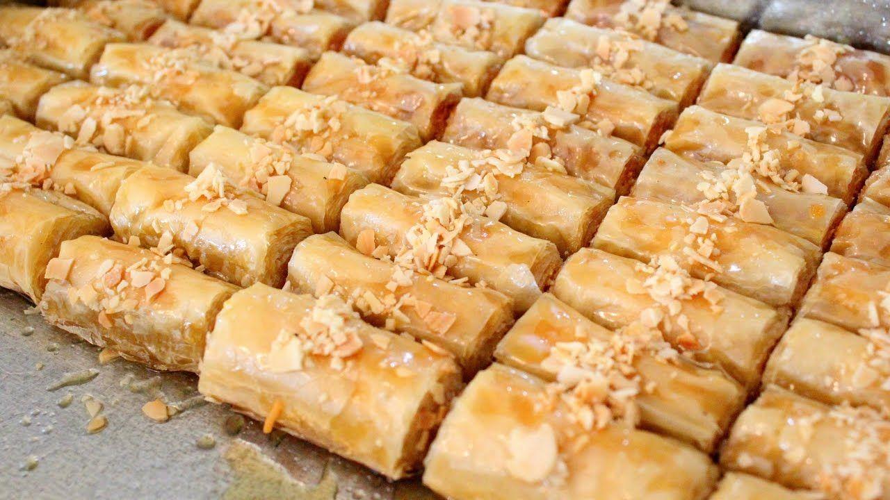حلويات رمضان البقلاوة التركية الملفوفة بلمسة مغربية روعة روعة روعة وتست Homemade Pastries Baklava Turkish Recipes