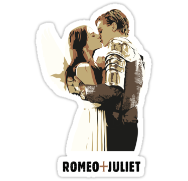 Romeo Juliet Sticker By Laura Frere Romeo And Juliet Stickers Print Stickers