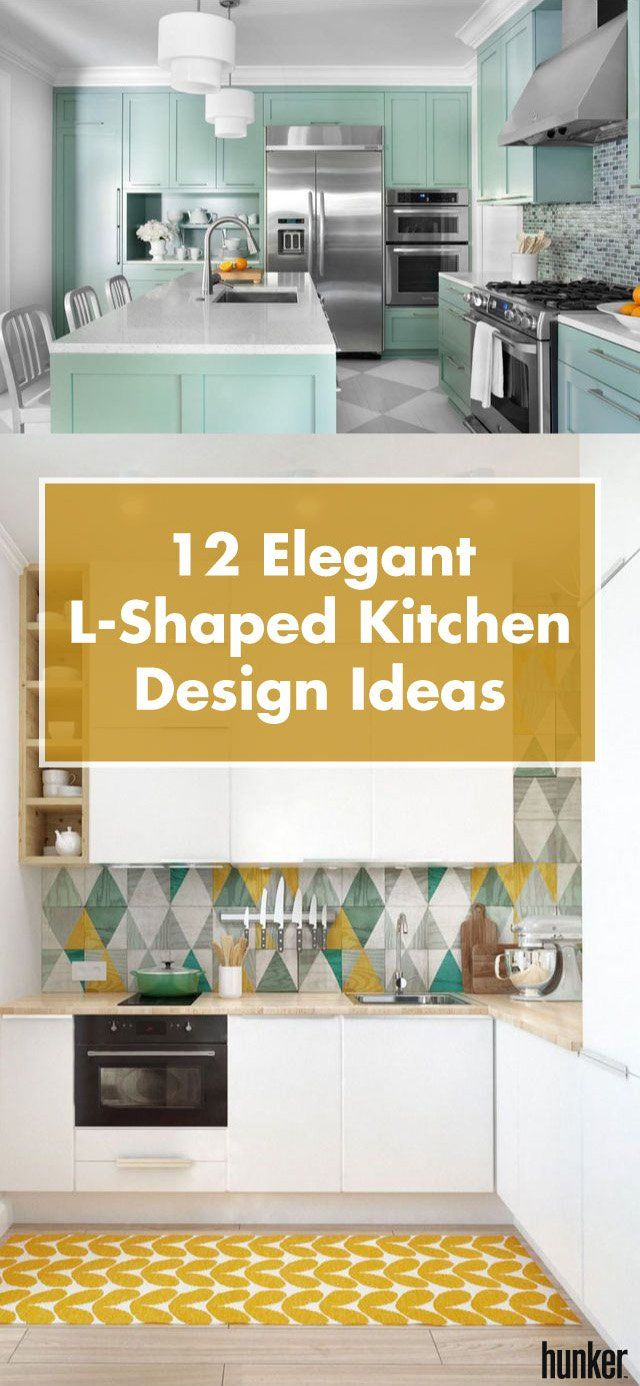 12 Elegant LShaped Kitchen Design Ideas Kitchen floor plans