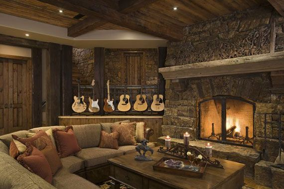 Old Rustic Living Room | Country Living Room in Chic Rustic Style ...