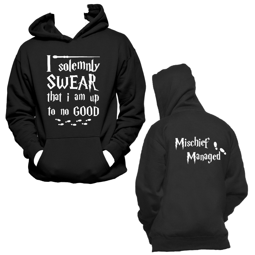 I Solemnly Swear Mischief Managed Hoodiemarauders Mapharry Potter