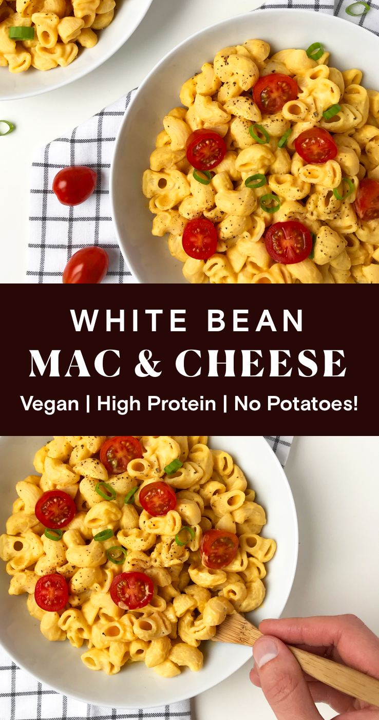 This Vegan White Bean Mac Cheese Recipe Is Perfect For A
