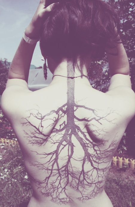 Tree Tattoo Girl Neck Back Ink Pinterest Tattoo Tatting