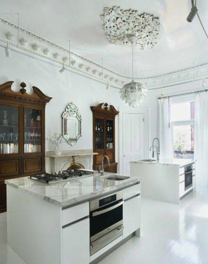 Attraktiv Marmor Platte Klassische Küchen Gestaltung