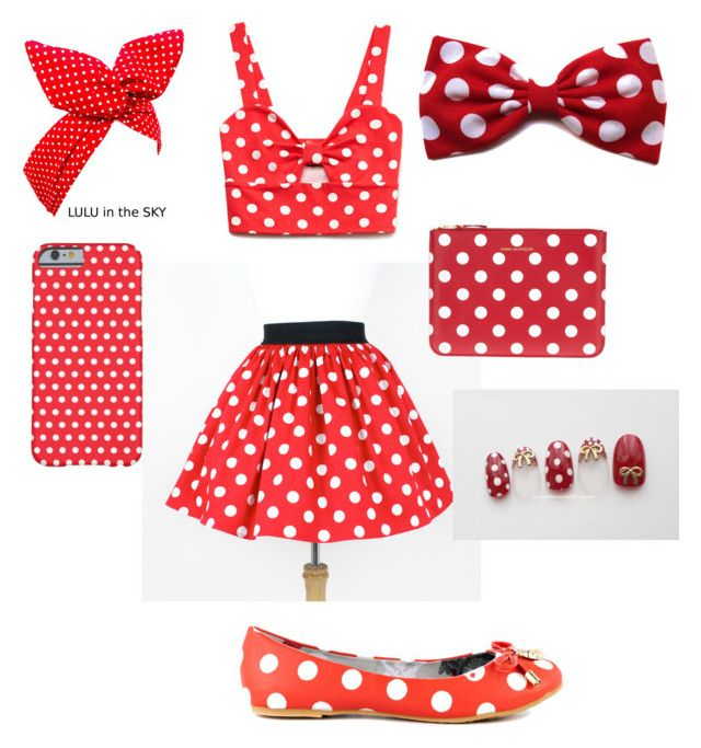 """Polka dot"" by arutila on Polyvore featuring Forever 21, Iron Fist and Comme des Garçons"