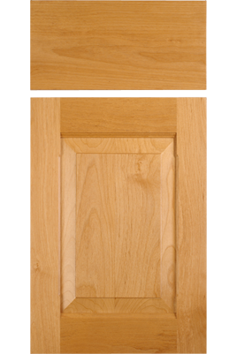 Cf101 oe5 ie3 rails chamfered stiles rp3 alder select doors cf101 combination frame cabinet door in select alder with oe5 ie3 on the rails eventshaper