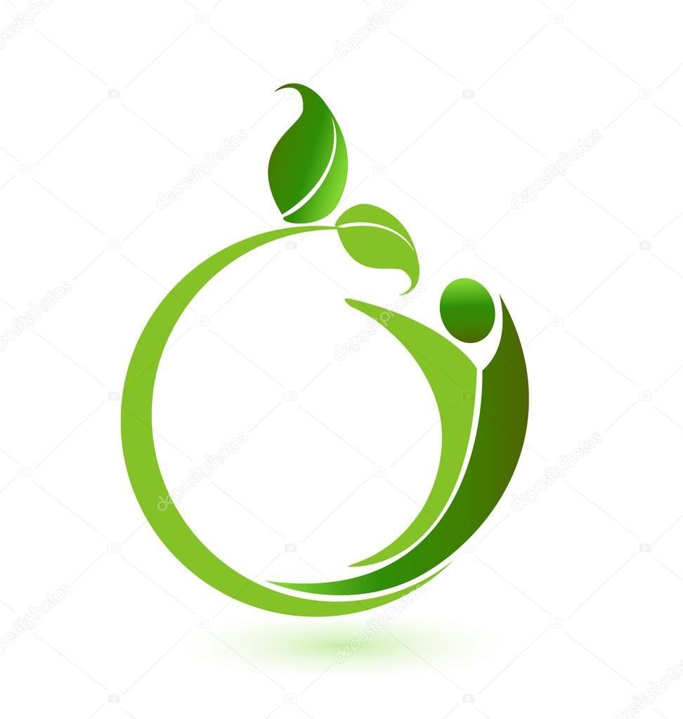 Health nature logo vector natural logo logo design