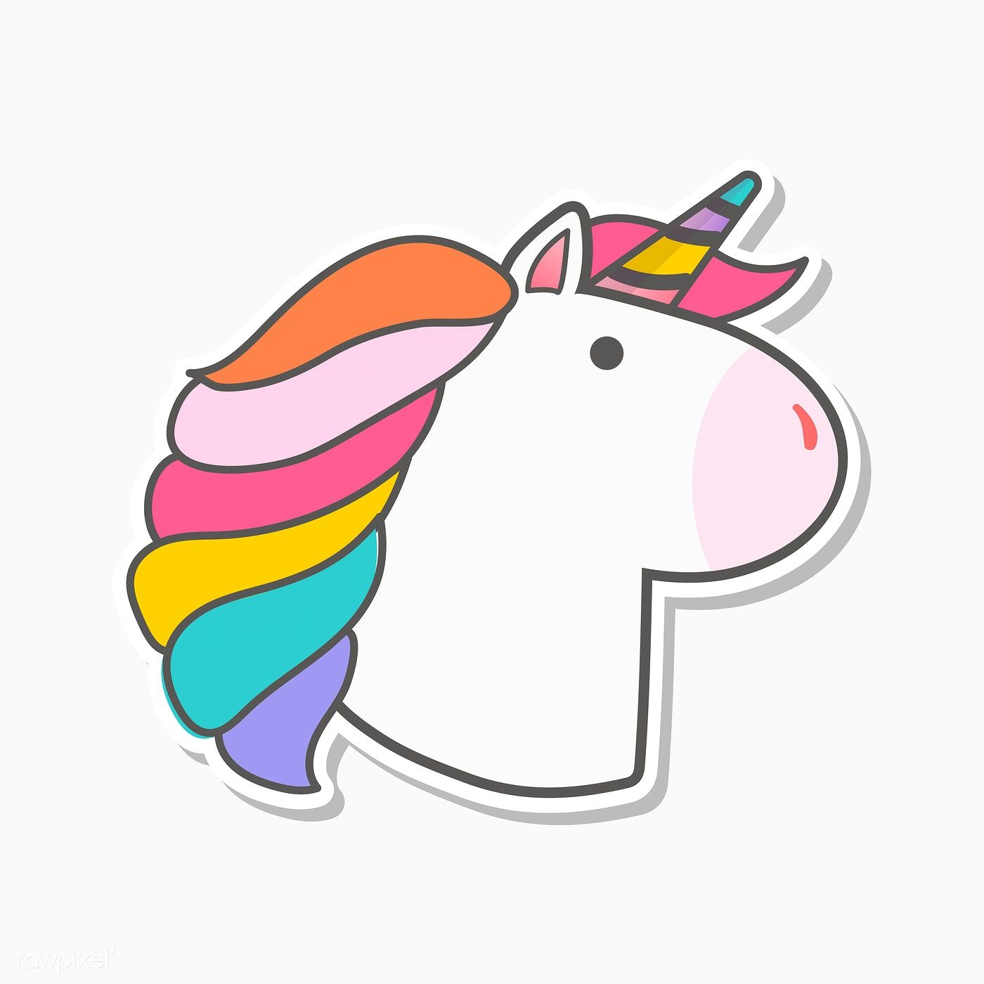 Unicorn Stickers By Jenny Gonzalez On Rawpixel Magical Rainbow