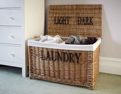 Large Laundry Sorter Cool Lights And Darks Laundry Hamper  Basket  Cool Laundry Baskets And Decorating Design
