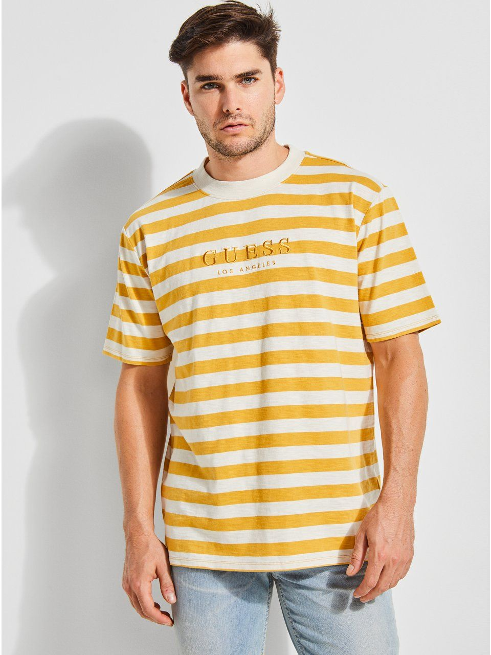 7fb57dfd77e1 GUESS Originals Striped Tee in 2019 | Products | Guess shirt ...
