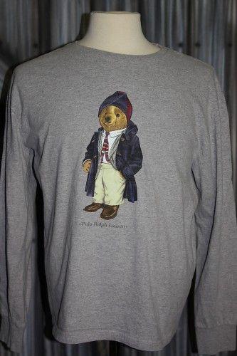 e8aad89e Vintage 90s Ralph Lauren Polo Bear Longsleeve T-Shirt   Swag in 2019 ...