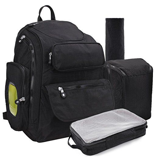 b9483cc5c4da Diaper Bag Backpack Baby Changing Pad Lightweight Large Nappy Travel ...