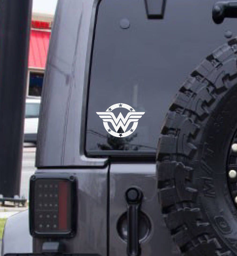 Wonder Woman Decal Free Shipping Super Hero Decal White Vinyl Decal Car Decal Sticker Decal Window Decal Laptop Decal Family Car Decals Car Car Decals [ 1090 x 1012 Pixel ]