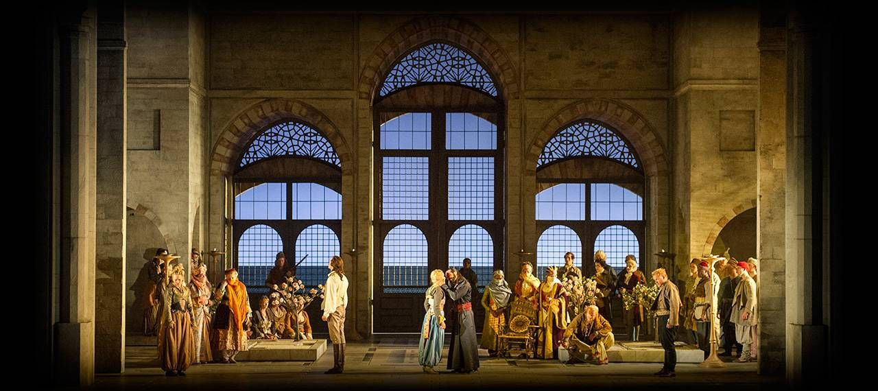 Die Entführung aus dem Serail from Glyndebourne Opera. Production by David McVicar. Sets by Vicki Mortimer.