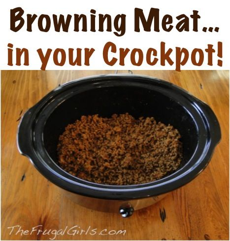 Kitchen Tip: Browning Meat in your Crockpot! ~ from TheFrugalGirls.com ~ go grab the Slow Cooker and get ready for the easiest kitchen tip ever!! #slowcooker #recipes #thefrugalgirls