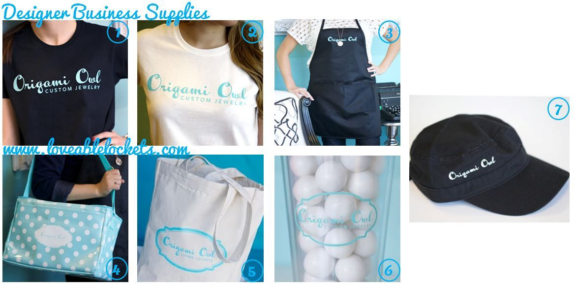 business supplies available to origami owl designers in