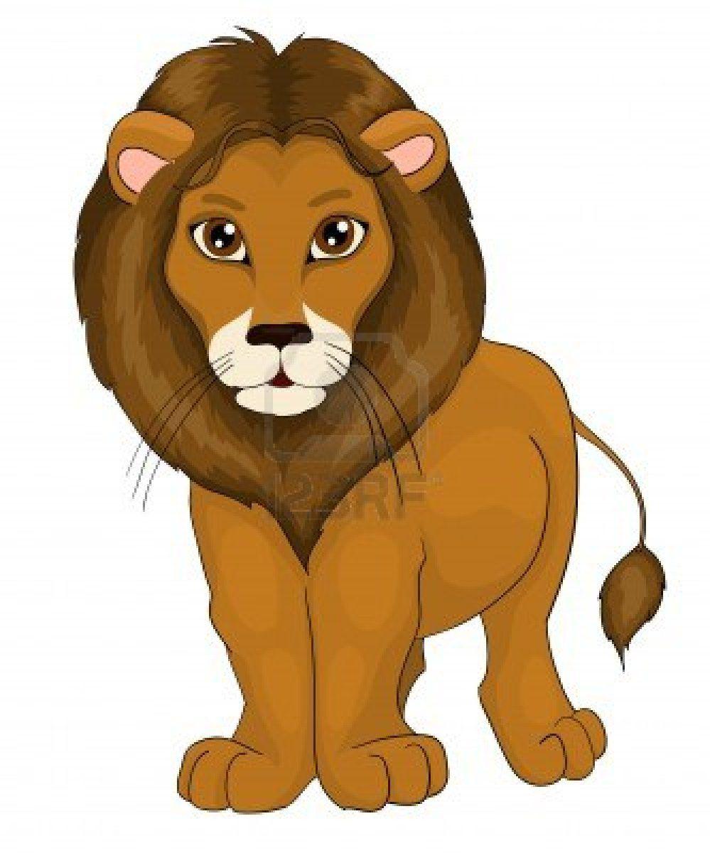 simple cartoon lion pictures