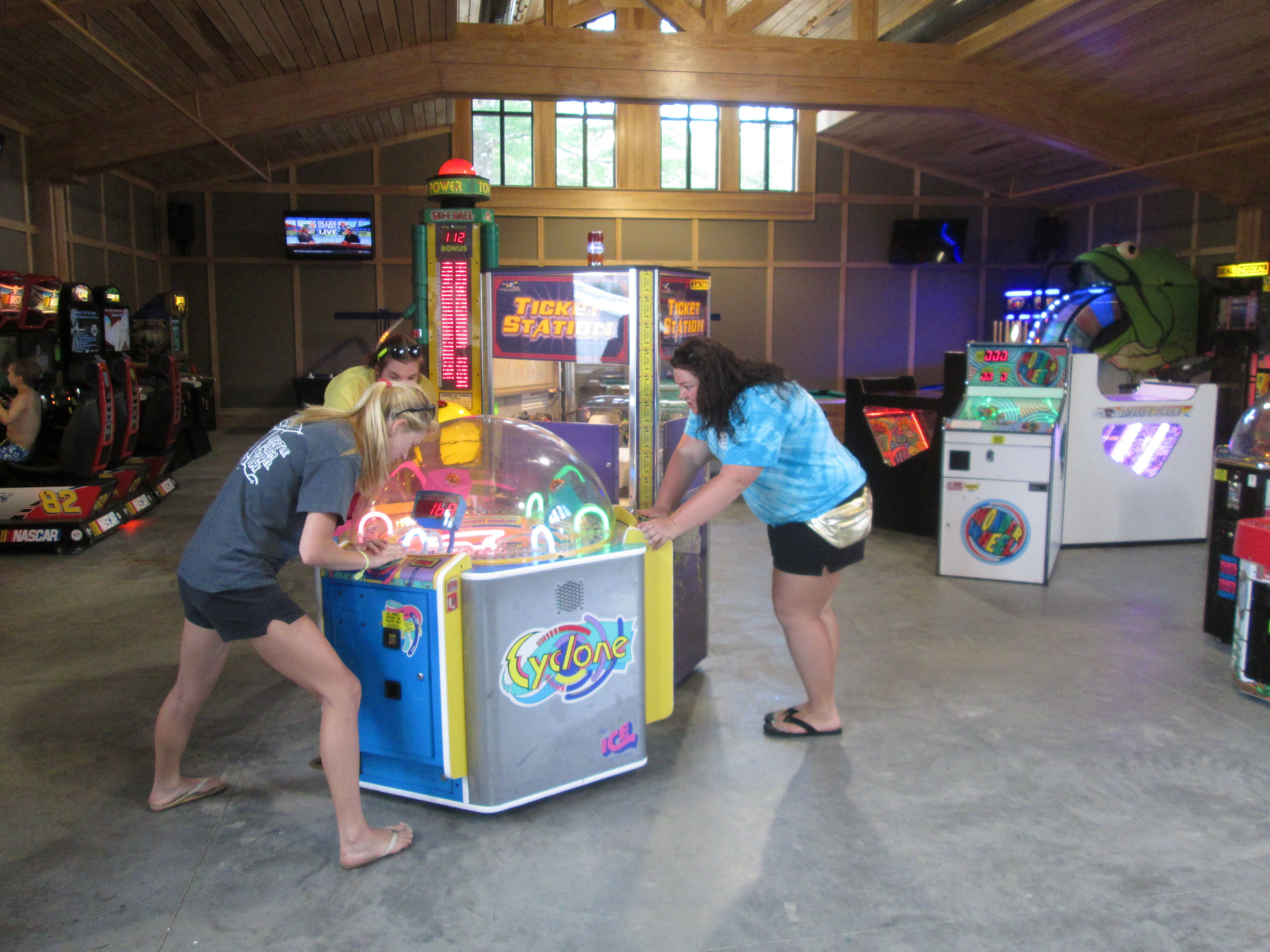 Myrtle Beach Travel Park Arcade and Snack Bar in South